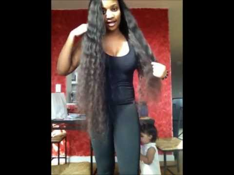 More long Hair!!! 34, 32  inches BRAZILIAN DEEP WAVE!