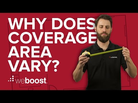 Why does cell phone signal booster coverage area vary? | weBoost