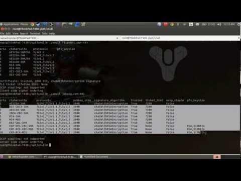 How to Scan SSLv3 poodle bug.
