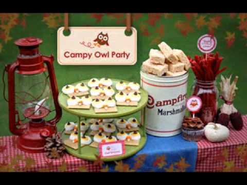DIY owl party decorations