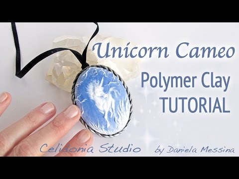 Unicorn Cameo Fairy Jewelry Polymer Clay Tutorial