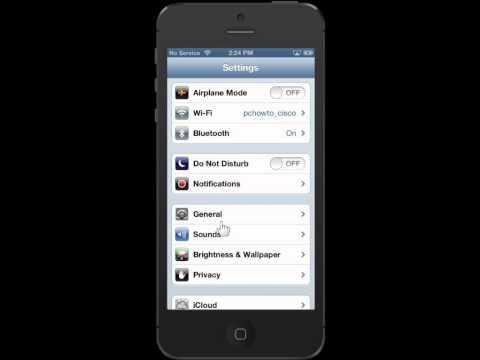 Apple iPhone 5 View Device Storage Capacity