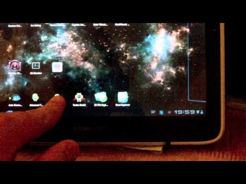 Android Tablet HANNSpree Honeycomb running / streaming Battlefield 3 beta from PC desktop
