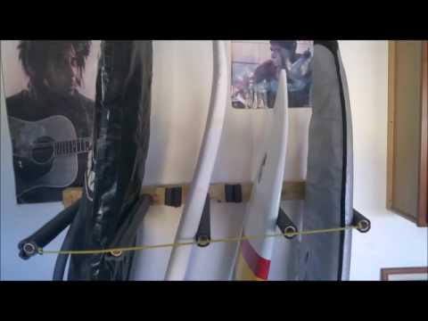 DIY Vertical Surfboard Rack Racks