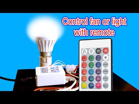 Remote control for light bulb or fan | How to make