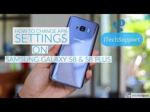 Samsung Galaxy S8 & S8 Plus Change APN Settings AT&T (ATT) MMS, 4G LTE Data, and Picture Messages