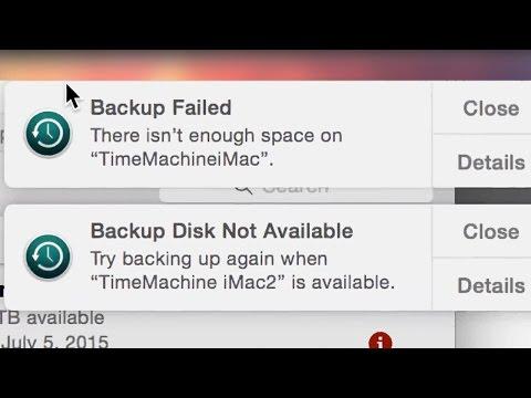 Backup Failed