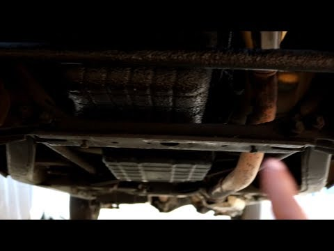 How to remove an oil pan from a ka24e