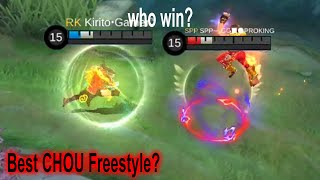 Vote for BEST FREESTYLE CHOU in Mobile Legends