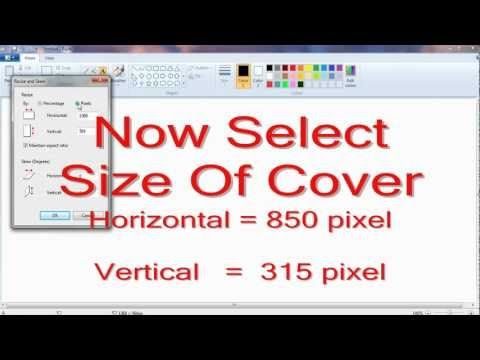 How To Make Facebook Timeline Cover Image In Microsoft Paint - Video Tutorial