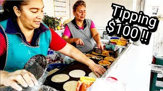 Download FAVORITE Mexican Street Food Stand & Tipping $100 Dollars In Mexico At The End Of The Video