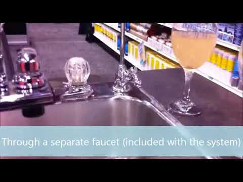 Rainfresh Drinking Water System 2....see water before and after filtration