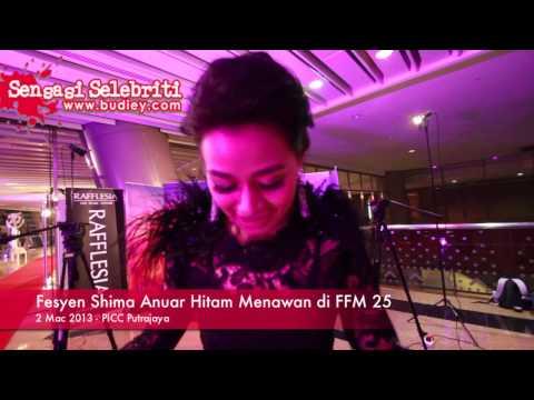 Fesyen Shima Anuar Hitam Menawan di FFM 25