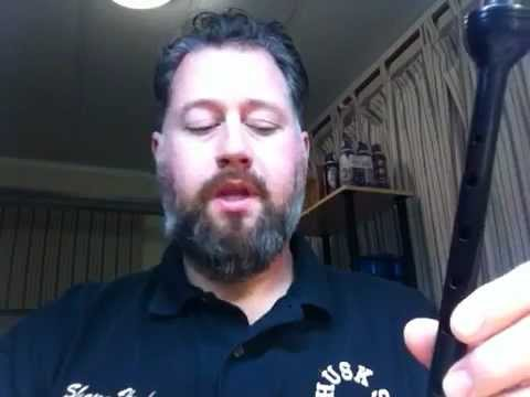 How to set up a bagpipe chanter