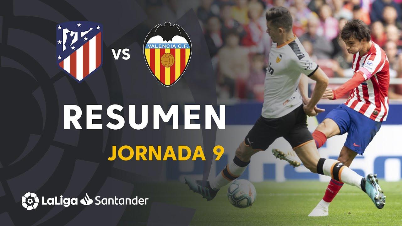 Resumen de Atlético de Madrid vs Valencia CF (1-1)