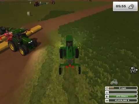 Bailing hay Part 1: cutting the hay farming simulator 2013 (1/2)