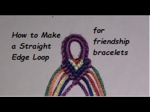 How to Make a Mini Straight Edge Loop for Friendship Bracelets