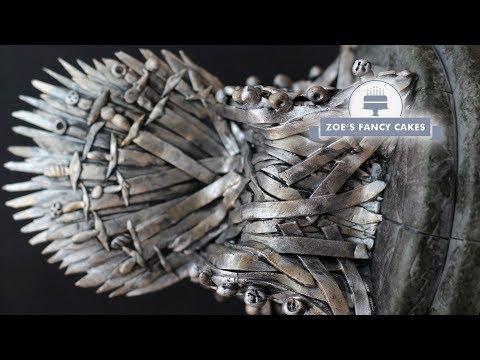 Iron Throne cake topper Game of Thrones cakes GOT tutorial