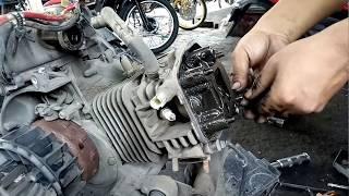 Wau Bahaya Motor Metik Lupa Ganti Oli