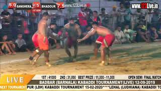 Best Match : SENGHRA Vs BADHOUR BADBAR KABADDI TOURNAMENT/www.123Live.in