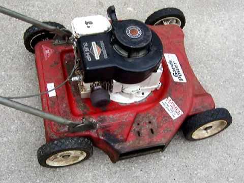 Running lawn mower on KC Craigslist for sale