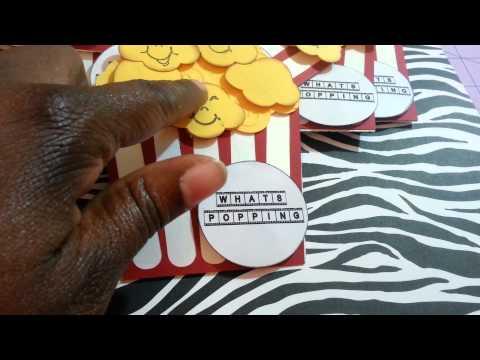 Movie night invitations(silhouette cameo)