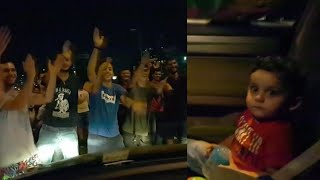 Lebanese Protesters Sing 'Baby Shark' to Toddler