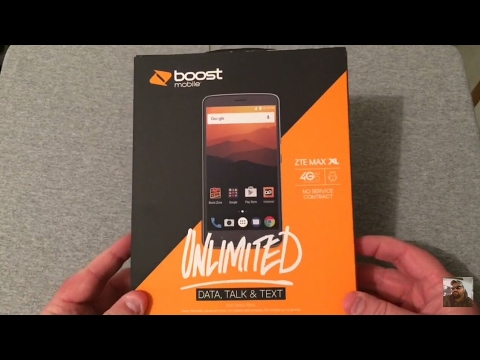 ZTE Max XL Boost Mobile Unboxing & First Look