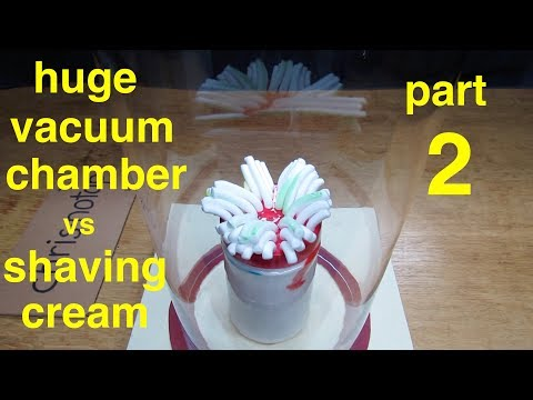 Shaving Cream goes Crazy!! ● in a vacuum chamber ● ( PART 2 )