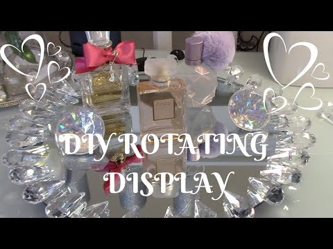 DIY ROTATING GLAMED DISPLAY HOME GOODS INPIRED