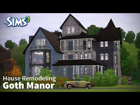 Goth Manor | The Sims 3 House Remodeling