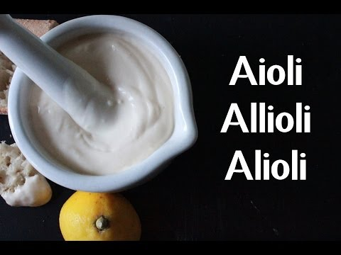 AIOLI | ALLIOLI | ALIOLI | GARLIC MAYO RECIPE BY SPANISH COOKING