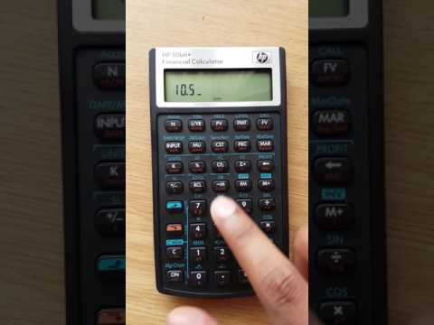 Using the amortization function on Hp10bii+