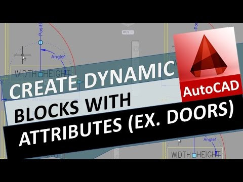 Create a Dynamic Block with Attributes in AutoCAD. Ex. Dynamic Door