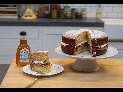 How to make a Honey Victoria Sponge Cake