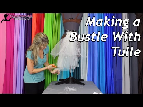 Making a Bustle With Tulle