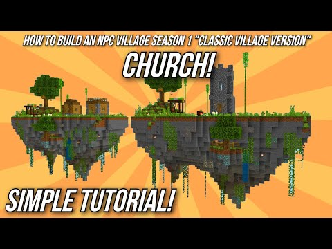 Minecraft Tutorial: How to build an NPC Village - Church!