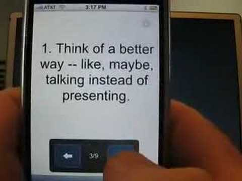 Six Tips for a Google Docs Presentation on iPhone