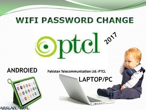 how to login in ptcl router and change name and wifi password