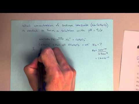 Chem 123 - Salt Solutions - Solving for Initial Concentration