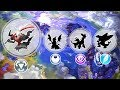 Legendary Pokemon Alolan Forms - Darkrai, Dialga, Giratina, Palkia.