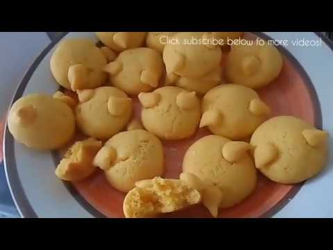 Orange Kitty Cookies (Crunchy Soft Chewy using margarine)