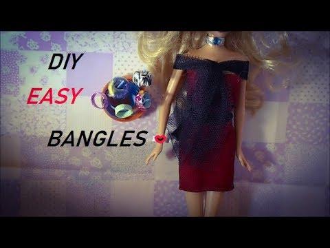 HOW TO MAKE: BARBIE DOLL BANGLES! [EASY]
