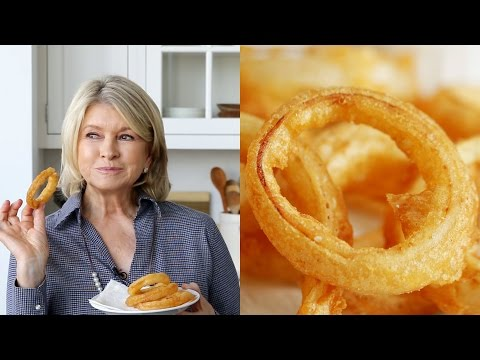 Beer-Battered Onion Rings by Martha Stewart #TastyStory