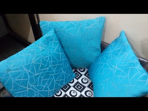 How to make cushion cover (Best out of Waste): Easy DIY sewing cushion pillow cover covers diy तकिया