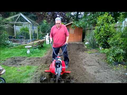 Honda FG315 Cultivator trying for the first time