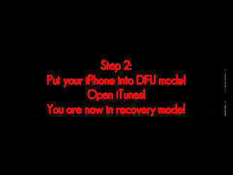 How to restore iPhone 3G iOS 4 2 1 Baseband 06 15 00 Error 1