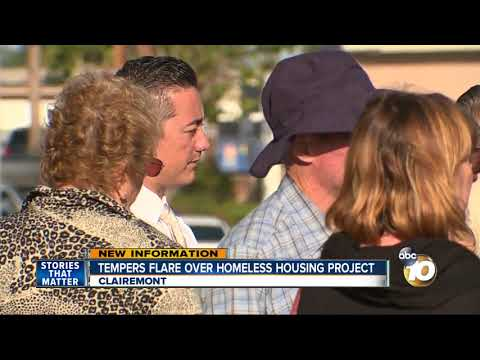 Tempers flare over homeless housing project