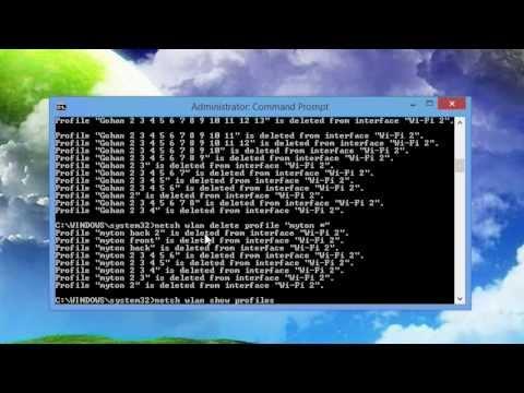 Delete Wireless Networks in Windows 8/8.1