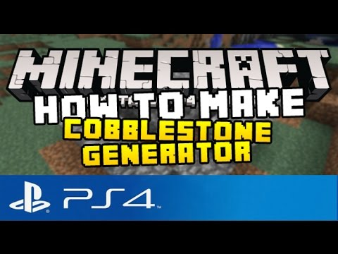 Minecraft PS4 - How to Make a Cobblestone Generator! ( Tutorial on Minecraft Playstation 4 Edition )